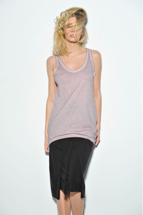 cotton tank top dyed