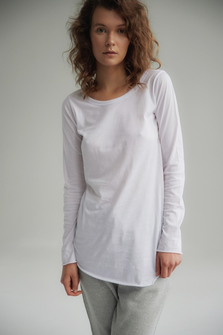 basic long sleeve white
