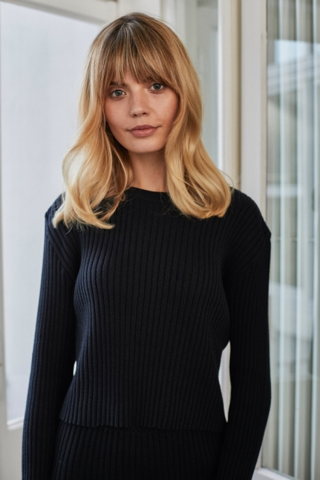 black short sweater