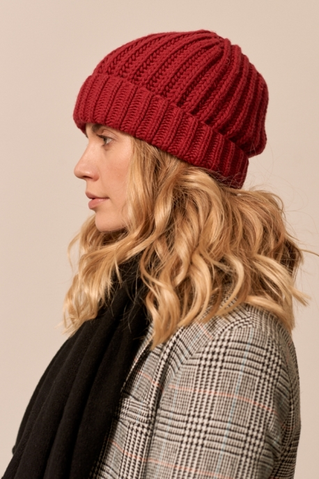 hat with cashmere