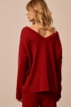 cotton sweater with v-neck