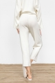 ivory wide ribbed trousers