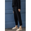 black wide ribbed trousers