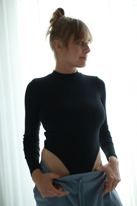 black body with turtleneck