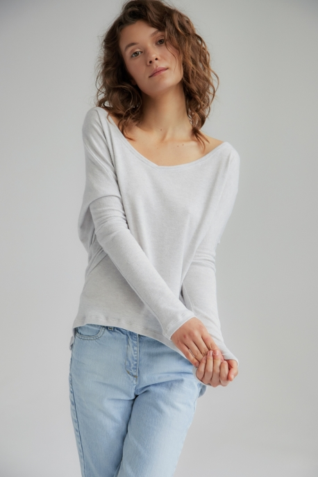 warm sweater with v-neck