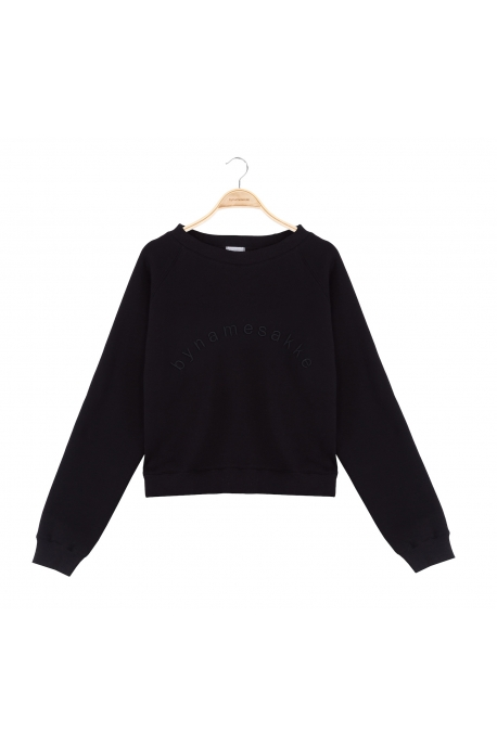 basic sweatshirt with overprint
